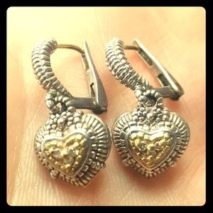 Judith Ripka heart earrings